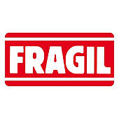 Etiquetas de expedição menção frágil