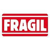 Etiquetas de expedición mención frágil