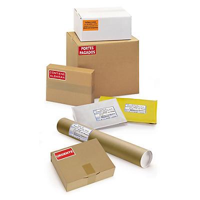 Etiquetas de información de entrega