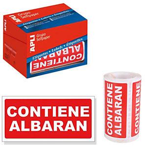 Etiquetas para envíos - Contiene albarán