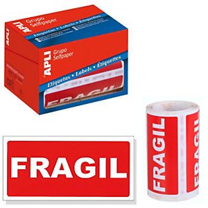 Etiquetas para envíos - Frágil