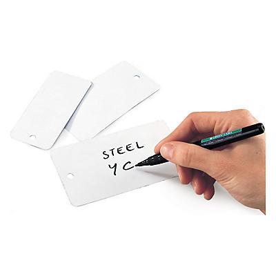 Étiquette en acier blanc##Wit hanglabel van metaal