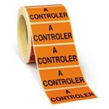 Étiquette adhésive amovible imprimée pour gestion stock