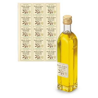 Étiquette adhésive de présentation en papier ivoire mat