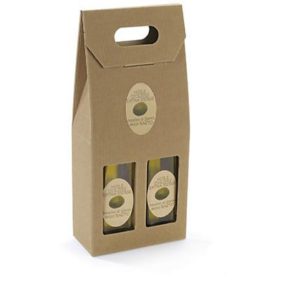 Étiquette adhésive de présentation en papier  kraft mat