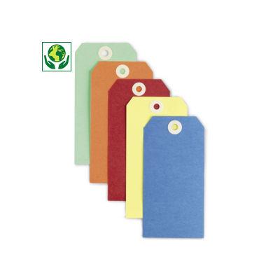 Étiquette américaine cartonnée couleur sans attache