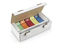 Étiquette américaine cartonnée couleurs assorties avec attache métallique