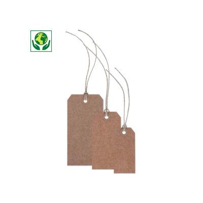 Étiquette américaine kraft avec attache##Amerikaans hanglabel van kraftpapier met linnendraad