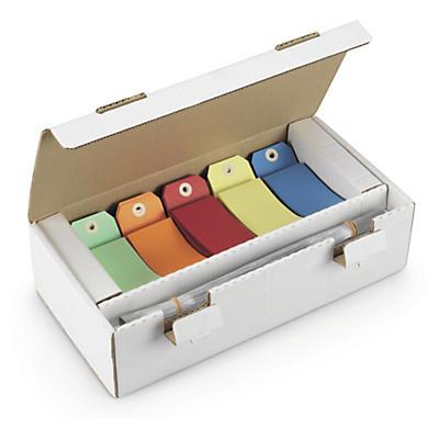 Étiquette en carte couleurs assorties