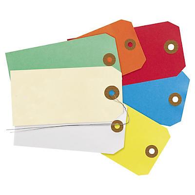Étiquette cartonnée##Farbige Anhänger mit und ohne  Metalldraht