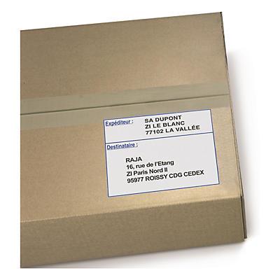 """Étiquette d'expédition """"expéditeur-destinataire"""" RAJA"""