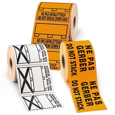 Étiquette d'expédition imprimée spéciale palette