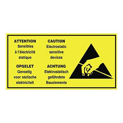 Étiquette d'expédition pour produits antistatiques##Verzendetiket voor antistatische producten