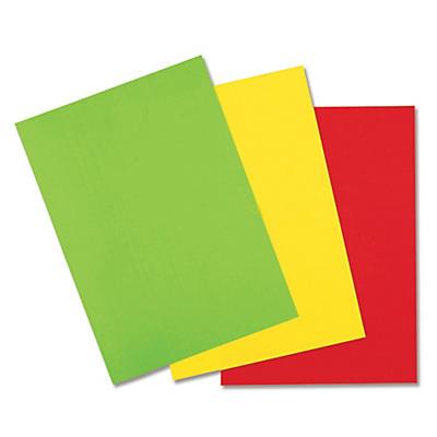 Étiquette fluo rectangulaire adhésif permanent en planche A4