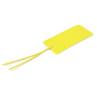 Étiquette industrielle PVC jaune avec attache polytwist