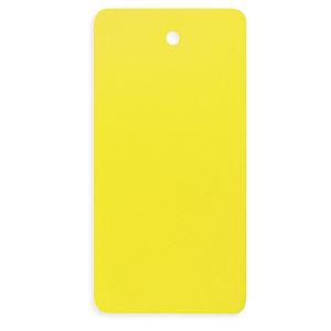Étiquette industrielle PVC jaune sans attache