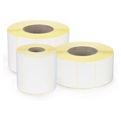 Étiquette papier blanc mat pour imprimante jet d'encre couleur
