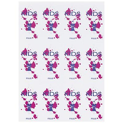 Étiquette perforée imprimable en planche A4