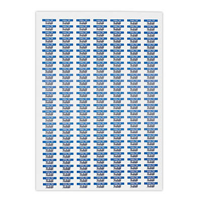 Étiquette polyester blanche mat