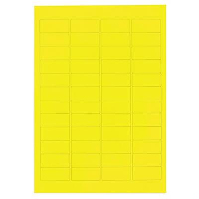 Étiquette en polyester jaune