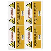 Étiquette polyéthylène blanche