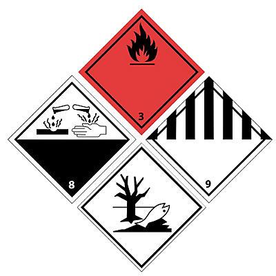 Étiquette polypropylène pour transport matières dangereuses