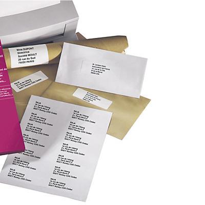 Étiquette polyvalente angles vifs boîte 100 planches RAJALABEL