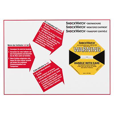 Étiquette de positionnement pour l'indicateur de choc##Positionierungsetikett für Shockwatch® Stossindikator