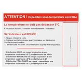 Étiquette de positionnement pour indicateur de température WARM