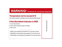 Étiquette de positionnement pour indicateur de température Warm##Waarschuwingslabel voor temperatuurindicator Warm