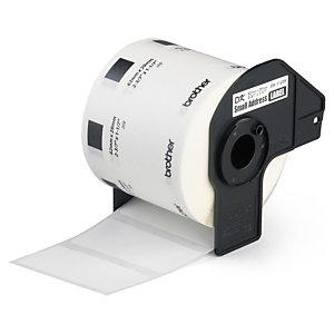 Étiquette thermique adhésive permanente prédécoupée pour imprimante QL BROTHER