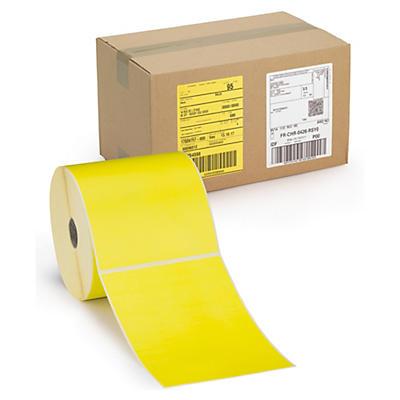 Étiquette thermique direct jaune