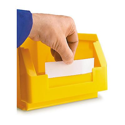 Étiquettes blanches pour bacs à bec couleur
