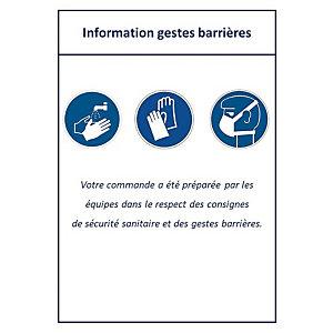 Etiquettes d'expédition gestes barrières Covid 19
