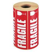 Étiquettes d'expédition imprimées Fragile