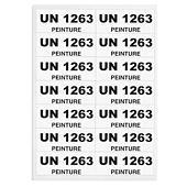 Etiquettes imprimable pour code UN