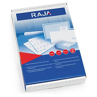 Étiquettes laser Rajalabel blanches##Laseretiketten voor kopieerapparaten en laserprinters