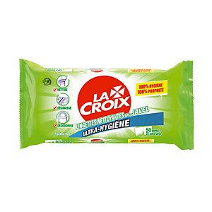 Etui de 50 lingettes nettoyantes avec javel La Croix ultra-hygiène