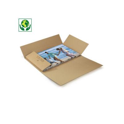 Etui-croix carton pour cadre brun adaptable en hauteur qualité Standard