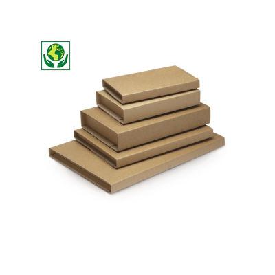 Étui-croix à fermeture adhésive - brun##Kruiswikkelverpakking met zelfklevende sluiting - bruin