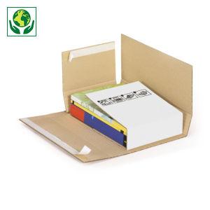 Étui-croix postal carton blanc avec fermeture adhésive