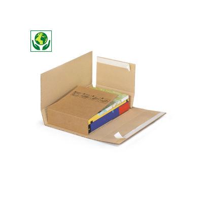 Étui-croix postal carton brun avec fermeture adhésive