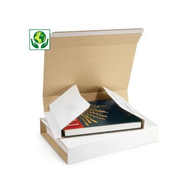 Étui postal carton blanc avec fermeture adhésive RAJA
