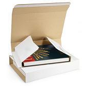 Étui postal carton blanc avec fermeture adhésive RAJABOOK