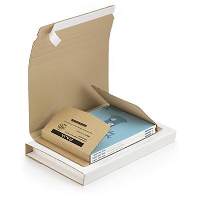 Etui postal carton brun/blanc avec adhésif RAJA Standard format A4