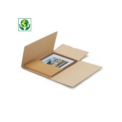 Étui postal carton brun pour cadre
