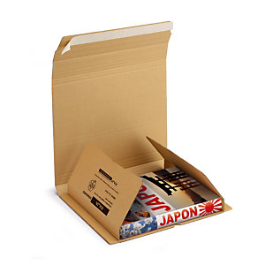 Etui postal carton brun avec fermeture adhésive RAJA Standard 32x32 cm