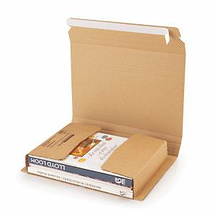 Etui postal carton brun avec fermeture adhésive RAJA Standard 33x25 cm