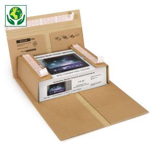 Étui postal carton brun fermeture adhésive sécurisée RAJA