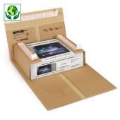 Étui postal carton brun fermeture adhésive sécurisée RAJABOOK